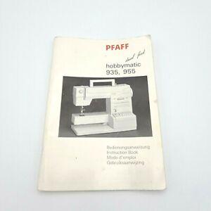 1980 PFAFF Hobbymatic 935, 955 Instruction Manual