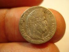 FRANCE  SILVER  1/4 FRANC  1841   A