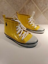 Women's  POLO Ralph Lauren yellow rubber short boots sneaker size 4