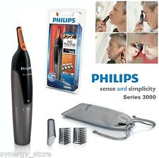 Philips ELECTRIC pelo TRIMMER Mens Grooming Kit, nariz oído cejas inalámbricas nuevo