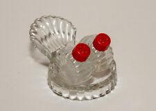 Glass Three Piece Shell Design Salt & Pepper Shakers