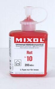 Mixol #10 RED Universal Tint 200ml Bottle