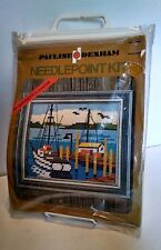1971  Pauline Denham Crewel Kit #4535 Seascape - At The Docks Needlepoint  OOP