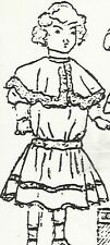 "Pattern for 1908 Dress with Bertha Collar for 23""-24"" Doll"
