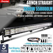 44Inch 3600W OSRAM LED Light Bar Spot Flood Off Road Dodge Ram QUAD ROW VS 52''