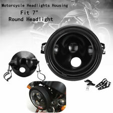 Motorcycle 7'' LED Daymaker Headlight Light Housing Bucket W/Bracket For Harley