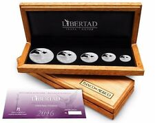 2016 5 PIECE LIBERTAD .999 SILVER PROOF SET - MEXICO -  MINTAGE 1000 SETS!!!!!