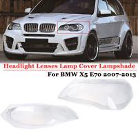 Klar Lens Cover Scheinwerfer Abdeckung für BMW X5 E70 2007 2008 2009 2010 2012
