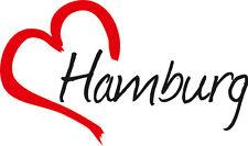 """Auto Aufkleber """" HAMBURG """" Sticker Stadt Deutschland ca.9x15cm konturge."""