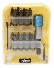 Rolson 30319 Pz2 Bits With Quick Release Adaptor 60mm  16 Pieces DIY Drill Chuck