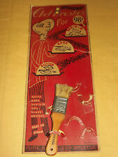 VINTAGE USA KITCHEN 1955  PROFESSIONAL  CHEF BRUSHES STORE DISPLAY
