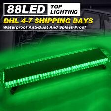"Car Strobe Lights 47"" 88 LED Flashing Bars Emergency Warning Green Dash Lamp"