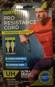 ❤️ Ignite Spri Exercise cord ULTRA HEAVY PRO POWER RESISTANCE up to 60 lbs NEW ❤
