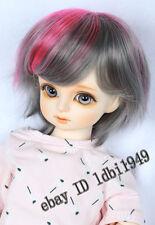 "1/3 8-9"" BJD Dollfie Doll Wig Pullip LUTS SD Blythe Short BJD Wig pink+gray"