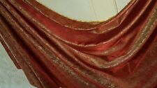 "1M two tone red rust colour paisley print dress/lining Brocade fabric  58""wide"