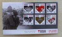 2016 NEW ZEALAND 100th RETURNED SERVICES ASS SET OF 6 STAMPS FDC FIRST DAY COVER