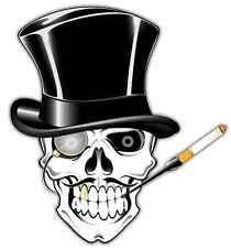 "Human Smoking Skull Bone Car Bumper Window Tool Box Sticker Decal 5""X4"""