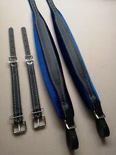 adjustable Genuine Leather Accordion Straps Blue 72-120 Bass,8cm akkordeon