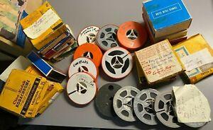 """Vintage Lot of 33 8mm Home Movies, 3"""" Film Reels"""