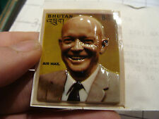 famous person stamp: 1972 Bhutan BAS RELIEF---- Dwight Eisenhower