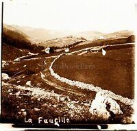 SUISSE Col de la Faucille ca 1910, Photo Stereo Vintage Plaque Verre VR4L6
