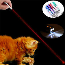 Cat Pet Toy 2 in 1 Red Laser Pointer Pen LED White Light Kids Play Cat Toy DS
