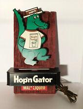 Vtg. Hop'n Gator Malt Liquor Lighted Sign