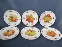 Plates Seltmann Weiden Fruit Nuts Vintage Germany Salad Lunch Porcelain Set of 6