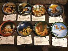 Vintage Garfield Plates Danbury Mint Dear Diary Series By Jim Davis Lot of 8