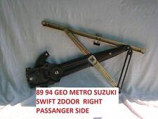 GEO METRO SUZUKI SWIFT 1989 TO 1994 ( 2 ) DOOR  PASSENGER SIDE WINDOW REGULATOR