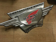 Rare RED WING MOTORCYCLE BOOTS shop sign classic garage display vintage workwear