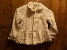 Little Lass White Button up Dress Jacket Size 6