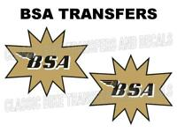 BSA Competition Tank Decals Transfers Classic Motorcycle Gold Black White