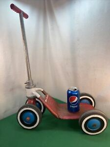 Vtg RARE 50-60's AMF Junior WEE SCOOTER Red Riding Skate Child's Wagon Toy