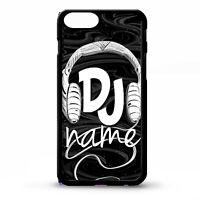 DJ mc headphone black ibiza cool music custom personalised name phone case cover