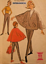 Mc-6925 Vintage 60s Poncho Pants Blouse Sewing Pattern McCall's Bust 31 Complete