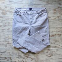 NYDJ Womens Sz 14 Clarissa Ankle Jeans Light Gray