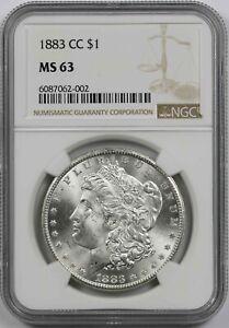 1883-CC $1 NGC MS 63 Morgan Silver Dollar