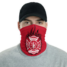 New Fire Department Unisex Face Mask Neck Gaiter Red One Size Fits All