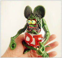 """Green Rat Fink Ed! Big Daddy Roth RF Movie Figure 4""""-5"""" Kids Toy Gift Deocr Hot!"""