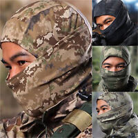 Outdoor Windproof Full Face Mask Camouflage Motorcycle Hunting Neck Cover Helmet