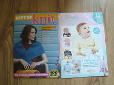 2 x Knitting Pattern Books for baby & adult
