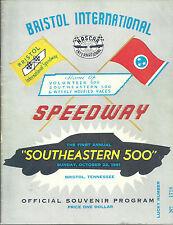 NASCAR 1961 First Annual Southeastern 500 Bristol Souvenir Program Reprint