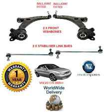 FOR VOLVO C70 2005-> FRONT 2 WISHBONE ARMS 2 STABILISER LINK BARS SUSPENSION KIT