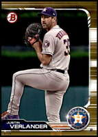 Justin Verlander 2019 Bowman 5x7 Gold #64 /10 Astros