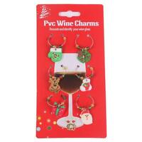 Mixed Christmas Wine Glass Charms Gift Table Decorations Tableware Ornament - CB