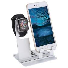 En Aluminium à Double Support  Accueil pour Apple Watch et iPhone iPad Tablette