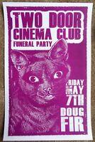 TWO DOOR CINEMA CLUB Gig POSTER May 2010 Portland Oregon Concert