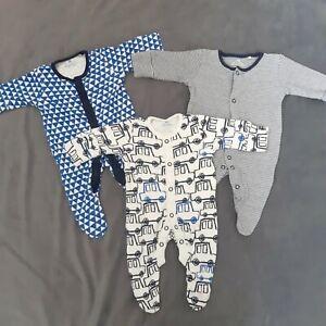 NEXT First Size Newborn Baby boy Sleepsuit Babygrow Set