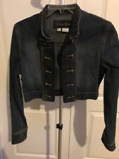 Younique Youth Size L Jean Crop Jacket Cover Up